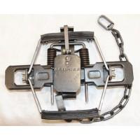 Bridger #2 x 2 coil Coil Spring Trap - Rubber Jaw
