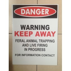Safety Sign Large - Corflute